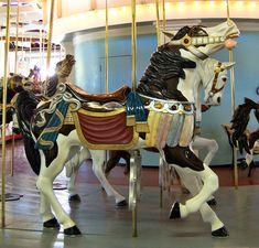 National Carousel Association - Eldridge Park Carousel - Eldridge Park Outside Row Stander (New Carving)