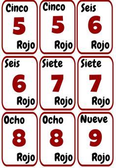 Cartas UNO imprimibles para la clase de español. ELE colores y números. Spanish Class, Spanish Lessons, School Ideas, Teaching, Tips, Holiday Activities, Second Language, Spanish Classroom, Foreign Language