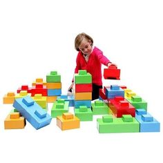 Dado Bricks - Building Toys - Kids will have no end of fabulous structures they can build with these enormous building bricks - let their imaginations run wild as they create their own castles, aeroplanes, shops, schools...