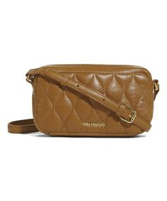 Love this Cognac Quilted Sydney Leather Crossbody Bag on #zulily! #zulilyfinds
