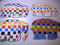 Elmer the elephant activities Book Projects, Projects For Kids, Crafts For Kids, Nursery Activities, Activities For Kids, Eric Carle, Elmer The Elephants, Elephant Coloring Page, Jungle Art