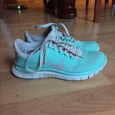 premium selection a651f 02956 Tiffany Blue Nike Free Runs 3.0 Have been worn a lot, just washed. Nike