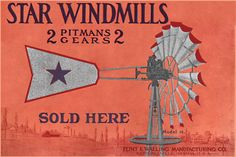 vintage windmill sign
