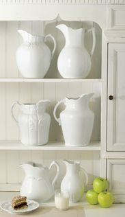 You can't go wrong with a set of white pitchers.