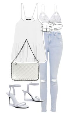 """""""Untitled #18376"""" by florencia95 ❤ liked on Polyvore featuring Hanky Panky, Topshop, TIBI, STELLA McCARTNEY, Monica Vinader and Alexander Wang"""