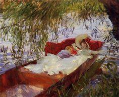 John Singer Sargent, Two Women Asleep in a Punt under the Willows, 1887 - Calouste Gulbenkian Foundation Museum, Lisbon