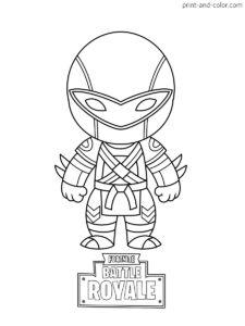 Fortnite Battle Royale Coloring Page Ninja In 2019