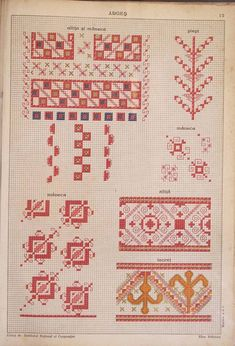 Ac&Arta: Motive traditionale vechi - Culese de Elisa I. Bratianu Dream Machine, Folk Art, Elsa, Diy And Crafts, Weaving, Cross Stitch, Traditional, Quilts, Embroidery