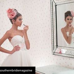 Our lovely painted gown Rosalia, featured in a photo shoot by Southern Bride Magazine Repost from @southernbridemagazine using @RepostRegramApp - Add a touch of romance to your big day with this floral gown from @eugenia_couture. There's so much to love about this dress from the handprinted pink flowers, the tulle, and the detachable bow. See more on our blog at the link in profile.  Location: @the_greenbrier  Photography: @michaelallen  Earrings: @caroleejewelry  Necklace and Bracelet…