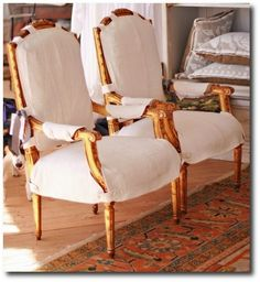 Slipcovers From brucebarone.com Cording, Drapery, French Pleating, French Ticking, Ruffles, Slipcovering, Gustavian, Swedish Decorating, Rustic Furniture, Distressed Furniture, French Furniture, Swedish Furniture