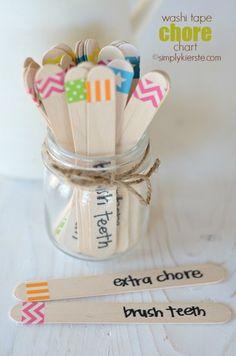 L'idée des bâtonnets colorés est adorable!