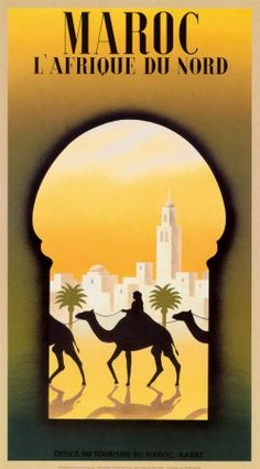 Africa Maroc l'Afrique du Nord - LArge selection of Vintage African Travel Posters Art Prints by Steve Forney Available on canvas and oversize giclees from - Enjoy Art Kunst Poster, Poster Art, Morocco Travel, Africa Travel, Vintage Travel Posters, Vintage Postcards, City Poster, Pub Vintage, Travel Ads