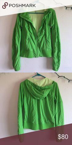 Lululemon Cool Down Jacket Lululemon lime green cool down jacket size 6, perfect condition, soft inside lululemon athletica Jackets & Coats