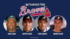 Congrats to Hank Aaron, Chipper Jones, Greg Maddux, and Warren Spahn for being voted as the Braves Franchise Four!