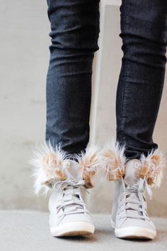DIY Removable Fur Lined High Tops