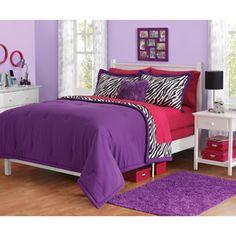 Reagan has a ZEBRA room now! Purple, Pink, and Zebra