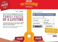 Enter Coca Cola's Share the Fiestahhh Sweepstakes and you could win a $13,435 trip for six to Mexico or thousands of instant prizes including cash, music downloads, and more.