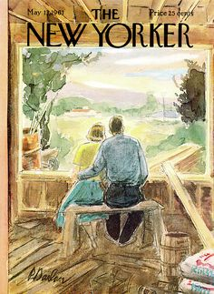 The New Yorker Cover - May 1961 Poster Print by Perry Barlow at the Condé Nast Collection The New Yorker, New Yorker Covers, Journal Vintage, Magazine Art, Magazine Covers, Thing 1, Vintage Magazines, Graphic Design Illustration, Illustration Art