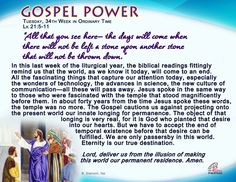 Tuesday, 34th Week in Ordinary Time