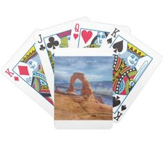 Red Rocks Bicycle Playing Cards - home decor design art diy cyo custom