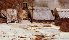 Cottages in the Snow - Maxime Maufra