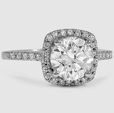 An exquisite halo engagement ring.