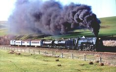 """Choo Choo Ch' Boogie"" by Louis Jordan with some photos of steam trains. Train Tracks, Train Rides, Old Steam Train, Train Pictures, Old Trains, Down South, Steam Engine, Steam Locomotive, Train Station"