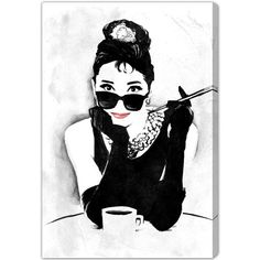 Oliver Gal The Look of A Lady Canvas Wall Art (765 BRL) ❤ liked on Polyvore featuring home, home decor e wall art