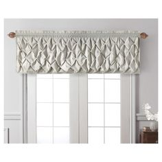 "Carmen Window Valance Taupe (Brown) (60""x20"") - Vcny Home"