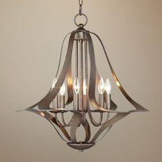 Possini Euro 6-Light Corinthian Bronze Bell Chandelier - #T5019 | LampsPlus.com