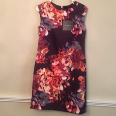"NWT Cynthia Rowley Dress. Two size  4 available New multi shades of peach,orange,plum,wine dress by Cynthia Rowley. Dress is made of Scuba material. From shoulder to hem dress is 35"" length. Cynthia Rowley Dresses"