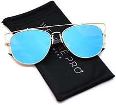 Fashion Retro Crossbar Mirror Lens Women Aviator Sunglasses ** Learn more by visiting the image link.