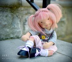 Handmade natural fiber art doll by Mon Petit Frère