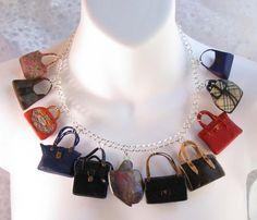 Ikonische Handtasche Charm Halskette