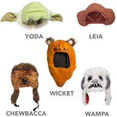 Star Wars Plush Character Hats. Dirk may need these.