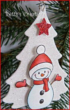 Bettys-creations christmas ornament snowman