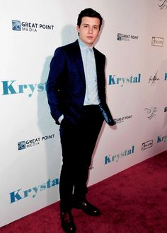 Nick Robinson at the premiere of his new Netflix film Krystal on April 5th, 2018 in Hollywood
