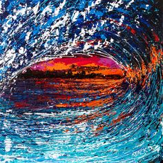 wave copy :: Canvas Art Canvas Art Painted by JACK D using PalletKnife and Airbrush medium Palette Knife Painting, Airbrush, Canvas Art, Waves, Paintings, Medium, Artist, Outdoor, Air Brush Machine