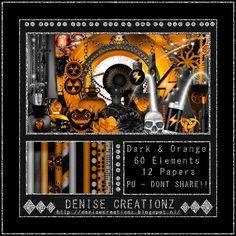 Scrapkit Dark and Orange