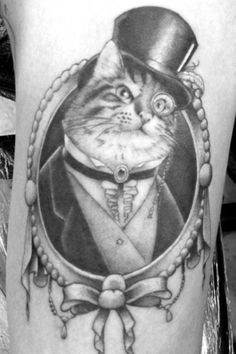 Cat tattoo @Shannon Pocan I think Howard Moon would look great with a top hat and a monocle