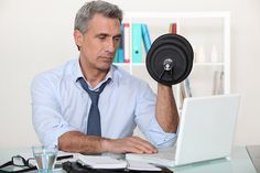 Too busy with work to workout? Here are 6 quick workouts to do at your desk #fittolead #fitness #balance