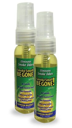 Amazon.com: Smoke Smell Be-Gone! Smoke & Odors Eliminator for Home, Office & Car. Natural Non-Aerosol Air Freshener 1.1oz (33ml), Lemon Scent (Pack of 2): Home & Kitchen | @giftryapp