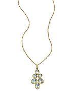 Argento Vivo Faceted Green Amethyst Pendant Necklace