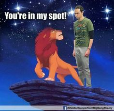 Sheldon cooper Big bang theory Comedy You're in my spot! Big Bang Theory Funny, The Big Band Theory, Funny Cute, Hilarious, Top Funny, Funny Picture Gallery, Whatsapp Videos, Funny Memes, Jokes
