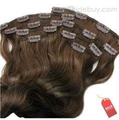 18インチ約半分ヘッド100%の人間の毛髪のためのブラジルの毛のトップ品質のカスタムクリップ