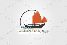 Ocean Travel and Cruise Logo vol.03 by EngoCreative.com on @creativemarket