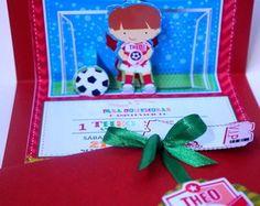 Convite PopUp 3D futebol