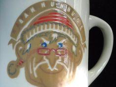 Denny's Bah Humbug Scrooge Santa Heat Activated Coffee Cup Mug Vtg Restaurant | eBay