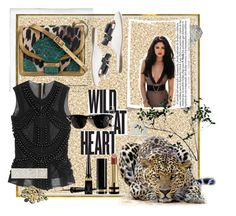 """Wild at heart"" by rochellewood44 on Polyvore featuring Polaroid, Balmain, Christian Louboutin, Dries Van Noten, Tod's, Gucci, Ray-Ban and Abigail Ahern"
