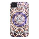 Vintage Abstract Floral Pattern Case-Mate iPhone 4 Case
